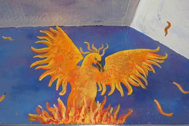 Jonny's Mural (firebird detail)