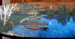 Painted Oar (detail)