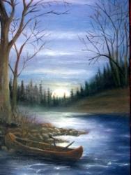 Moonlit Canoe