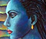 Blue Goddess (detail)