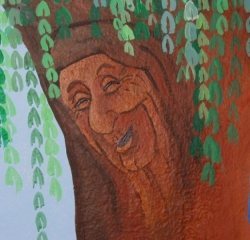 Olivia\'s Mural (Grandmother Willow)