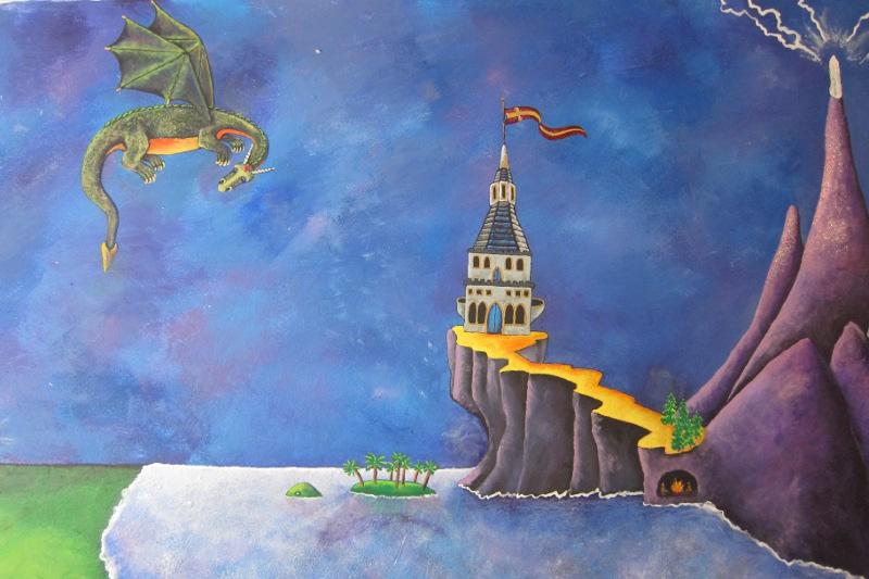 Wizard Mural Detail ~ Castle