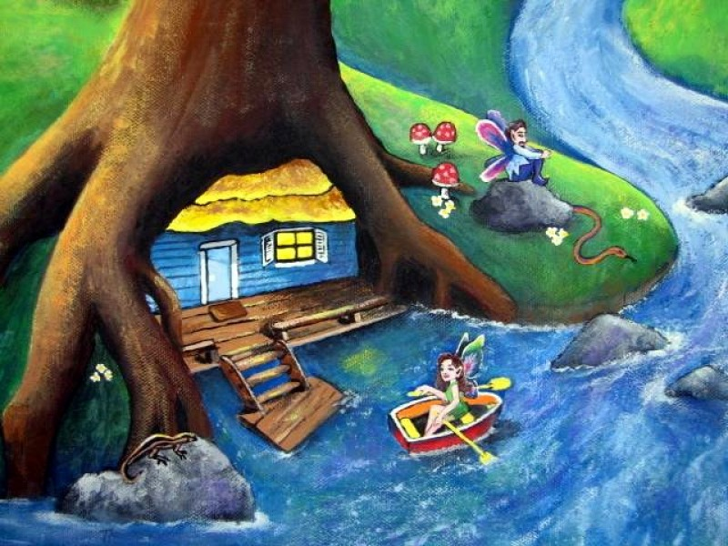 Isabelle's Daydreams Detail ~ Fairy Boat