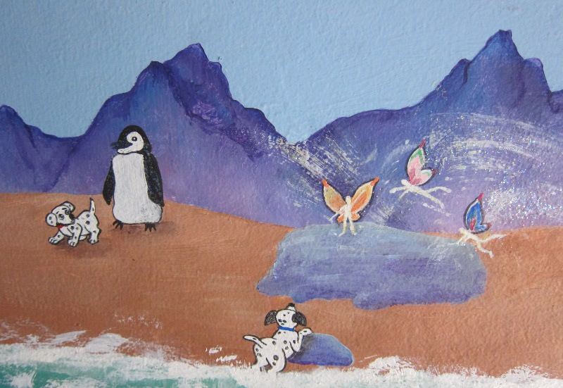 Unicorn Mural Detail ~ Penquins