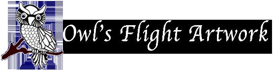 Owl's Flight Art by Theresa Stahl