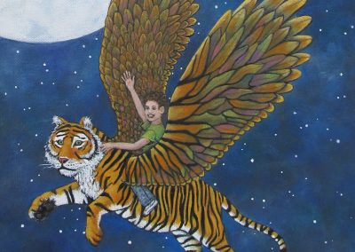 Magic in the Sky Tiger detail